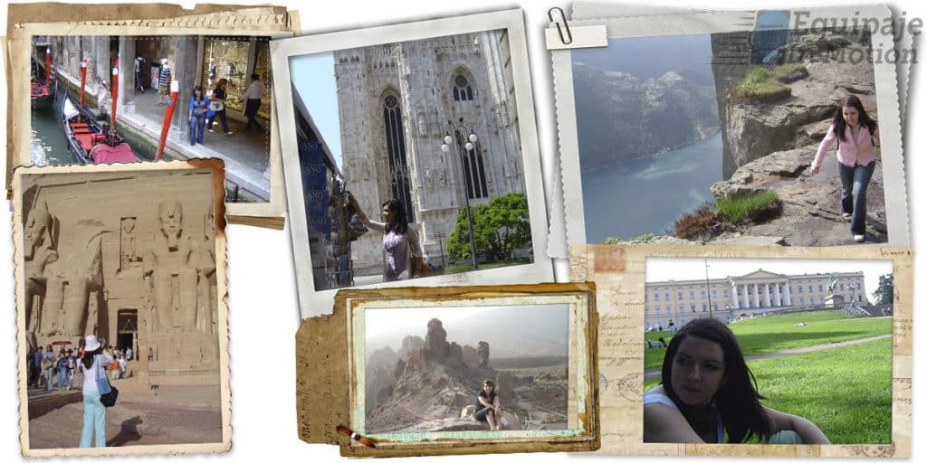 Collage viajes Equipaje in motion